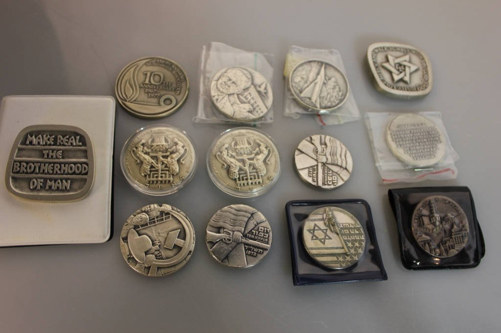 14 Sterling Silver Israel Commemorative Coins