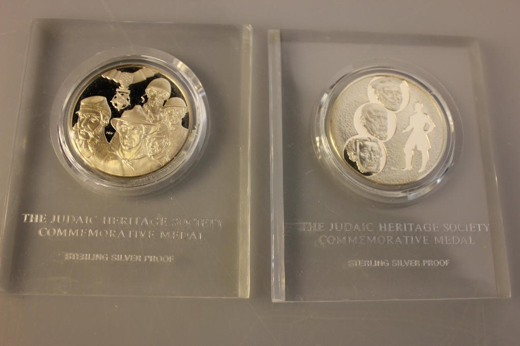 2 Sterling Silver Judaic Heritage Society Proofs