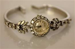 Omega Vintage Ladies Diamond Watch 18K White Gold