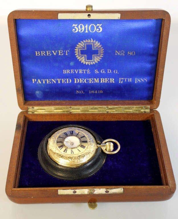 Brevete 18K Gold Pocket Watch