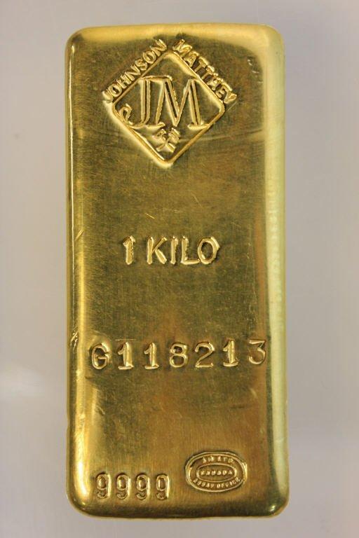 1 Kilo Gold Bar, Johnson Matthey