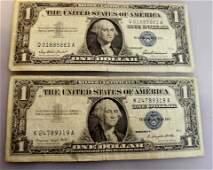 Mix Lot Silver Certificates Israeli Dollar Notes