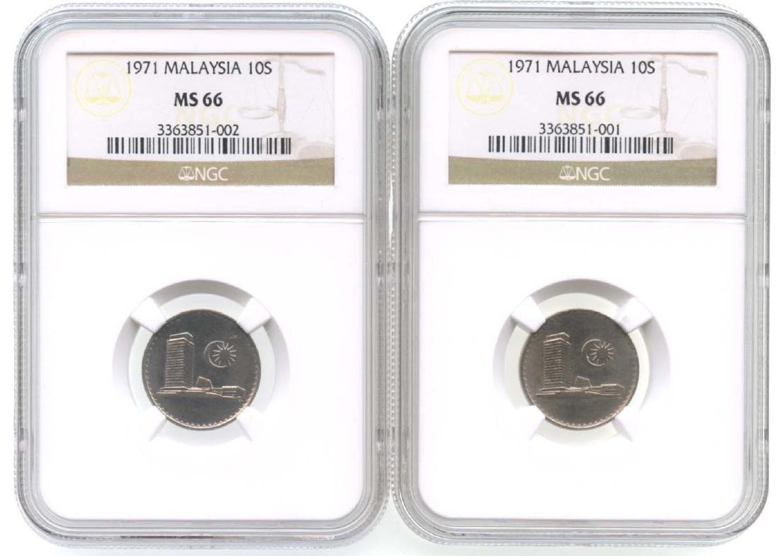 MALAYSIA 10-Sen 1971  (2pcs)