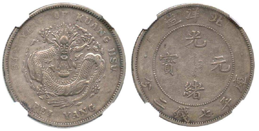CHINA - Provincial Issues Silver Dollar Yr 34 Bei Yang