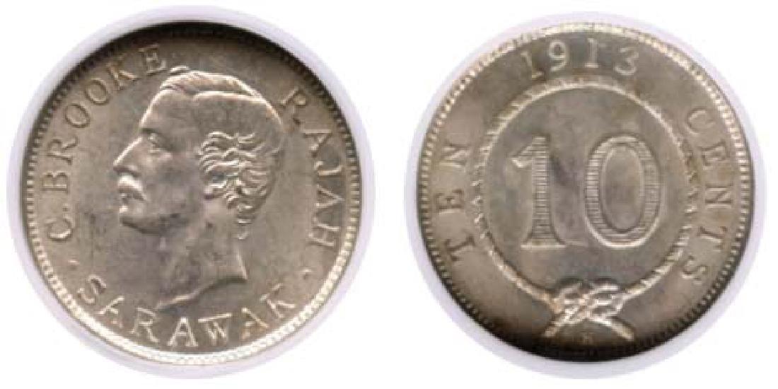 SARAWAK  10-Cents 1913H