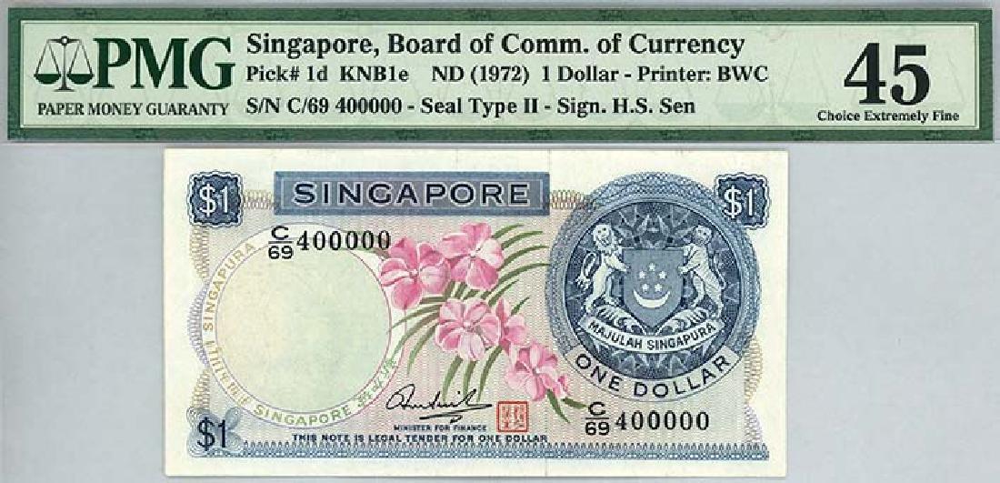SINGAPORE $1 1972 no. C/69 400000