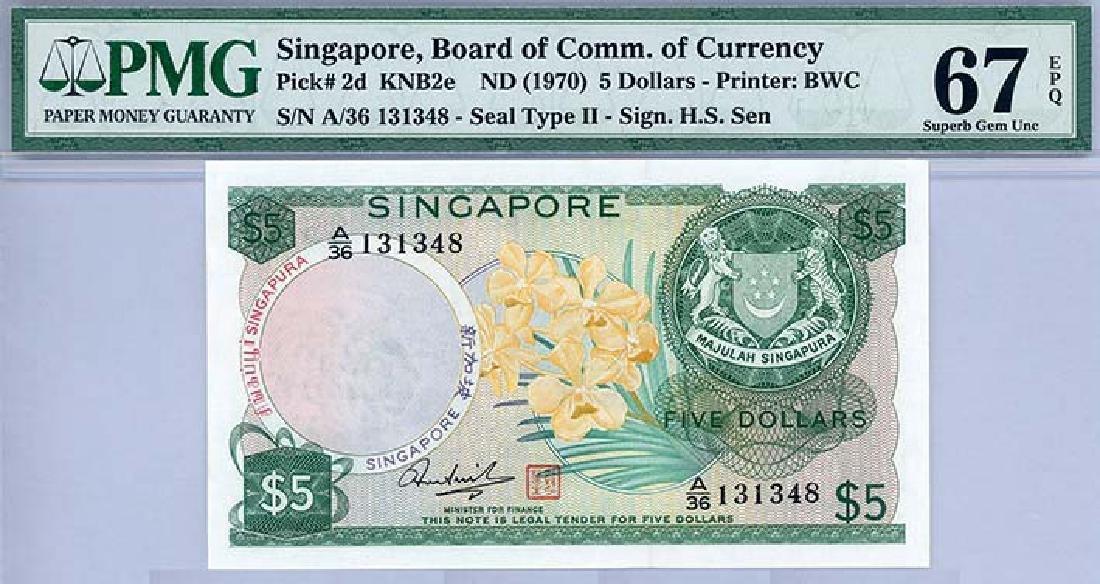 SINGAPORE $5A/36 131348
