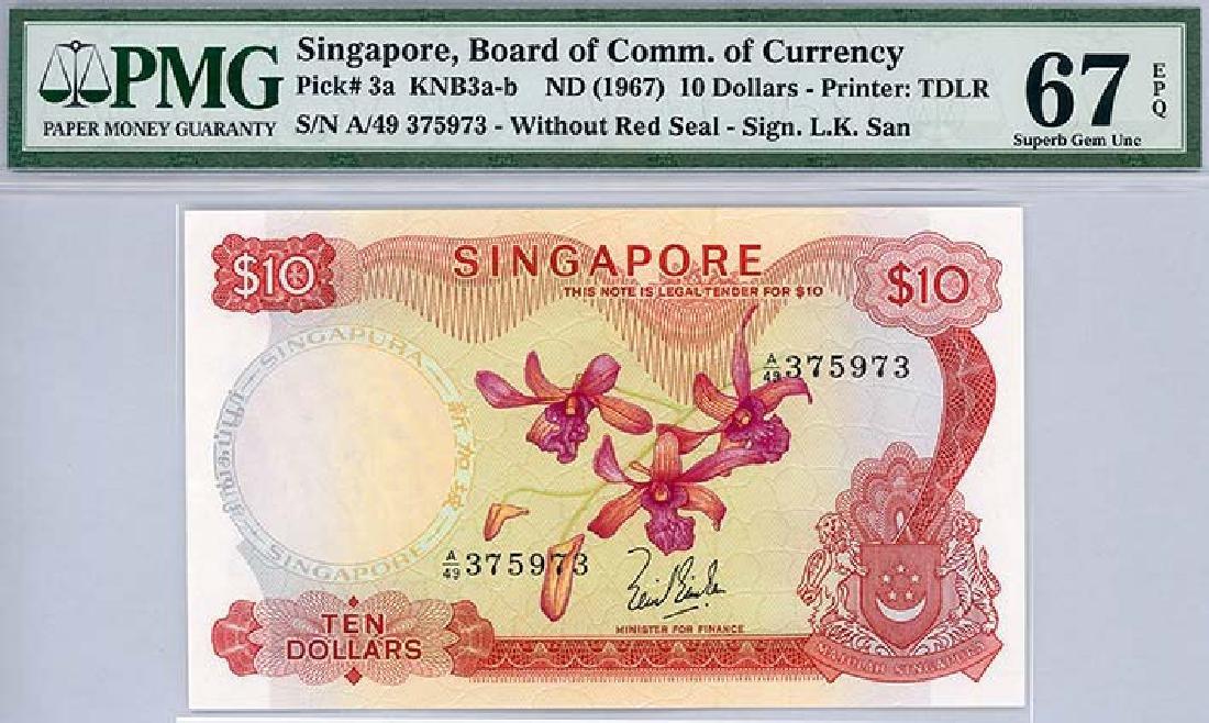 SINGAPORE $10 s/n A/49 375973