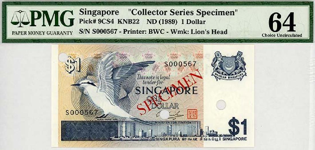 SINGAPORE $1 1976 Specimen  s/n. S000567