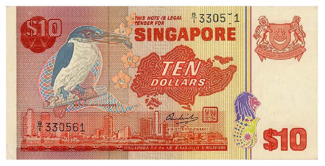 SINGAPORE $10 Error B/1 3305_1 / 330561