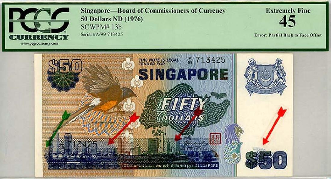 SINGAPORE $50 1976 s/n. A/99 713425