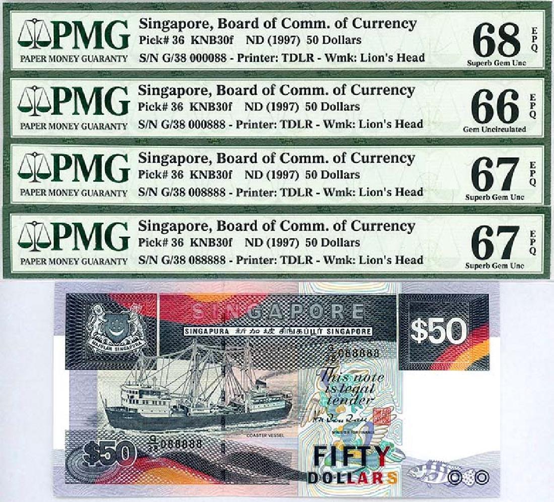 SINGAPORE $50 1997  Set  (4pcs)