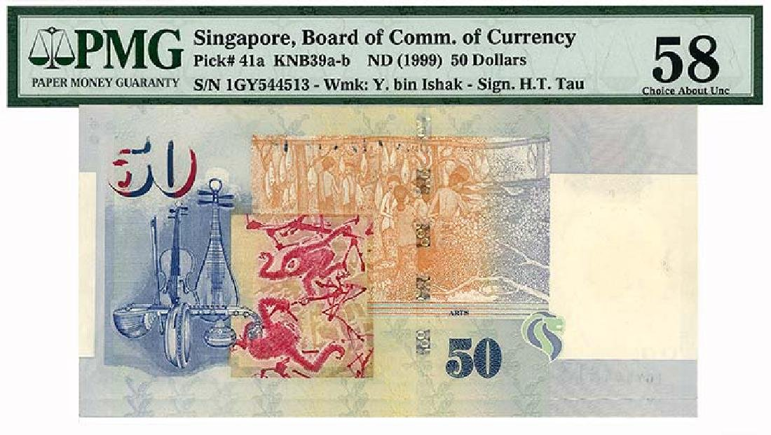 SINGAPORE   $50 1999  s/n. 1GY544513