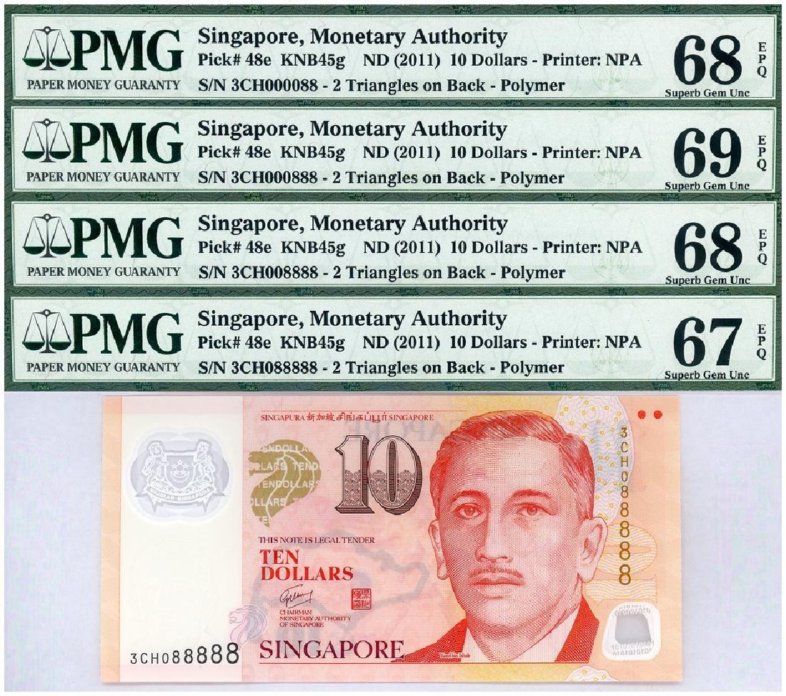 SINGAPORE $10 2011  Set  (4pcs)