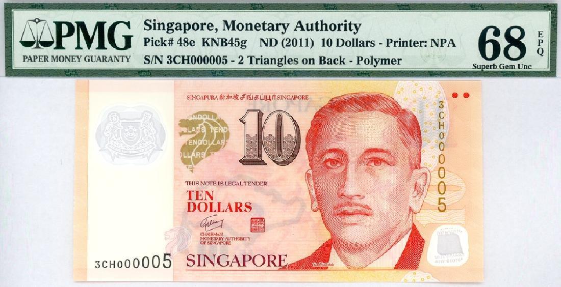 SINGAPORE $10 2011 no. 3CH000005