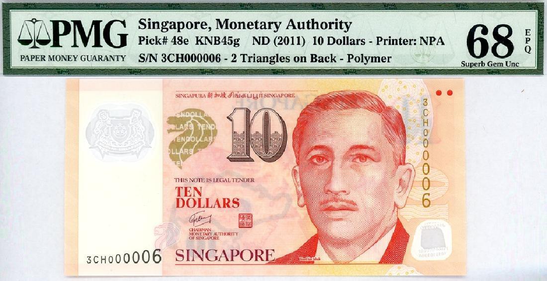 SINGAPORE $10 2011  no. 3CH000006