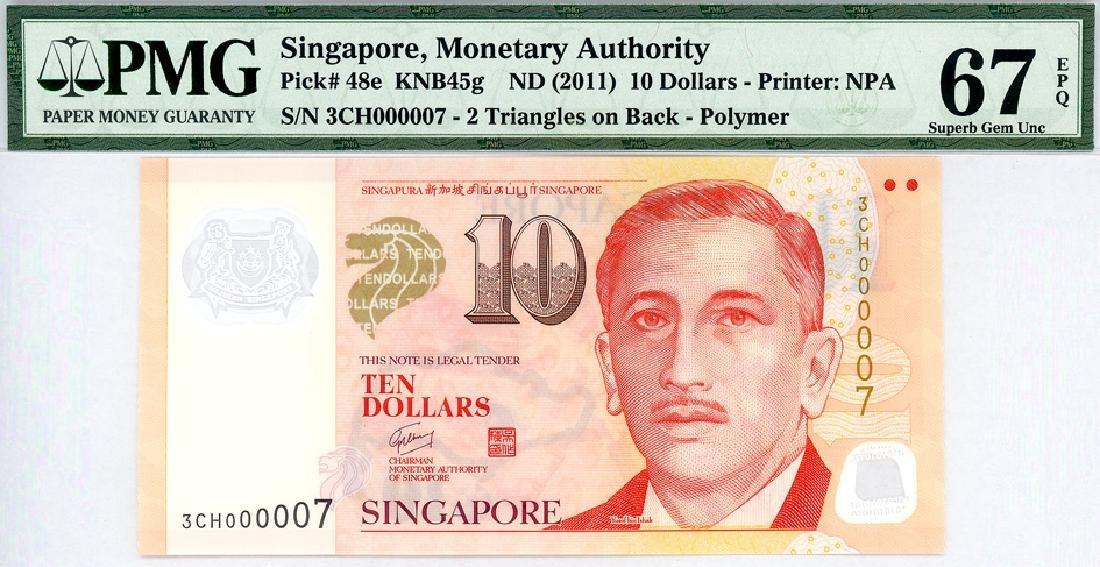 SINGAPORE $10 2011  no. 3CH000007