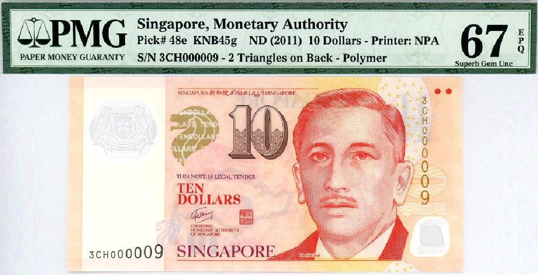 SINGAPORE  $10 2011  no. 3CH000009