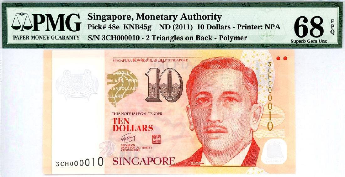 SINGAPORE $10 2011  no. 3CH000010