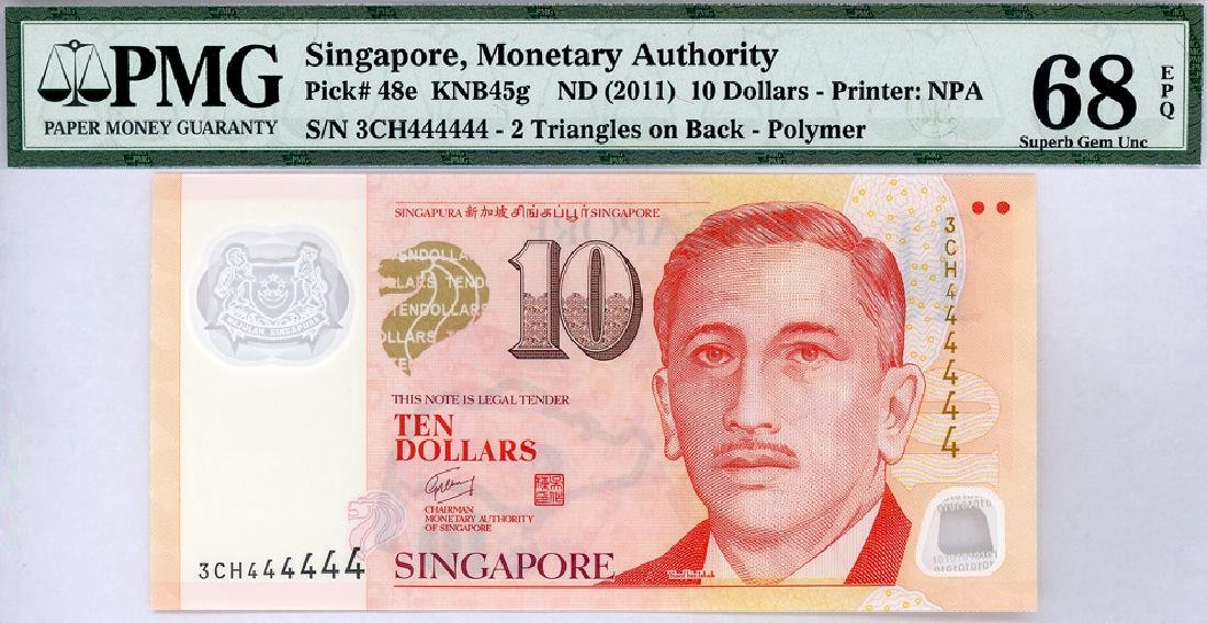 SINGAPORE  $10 2011   no. 3CH444444