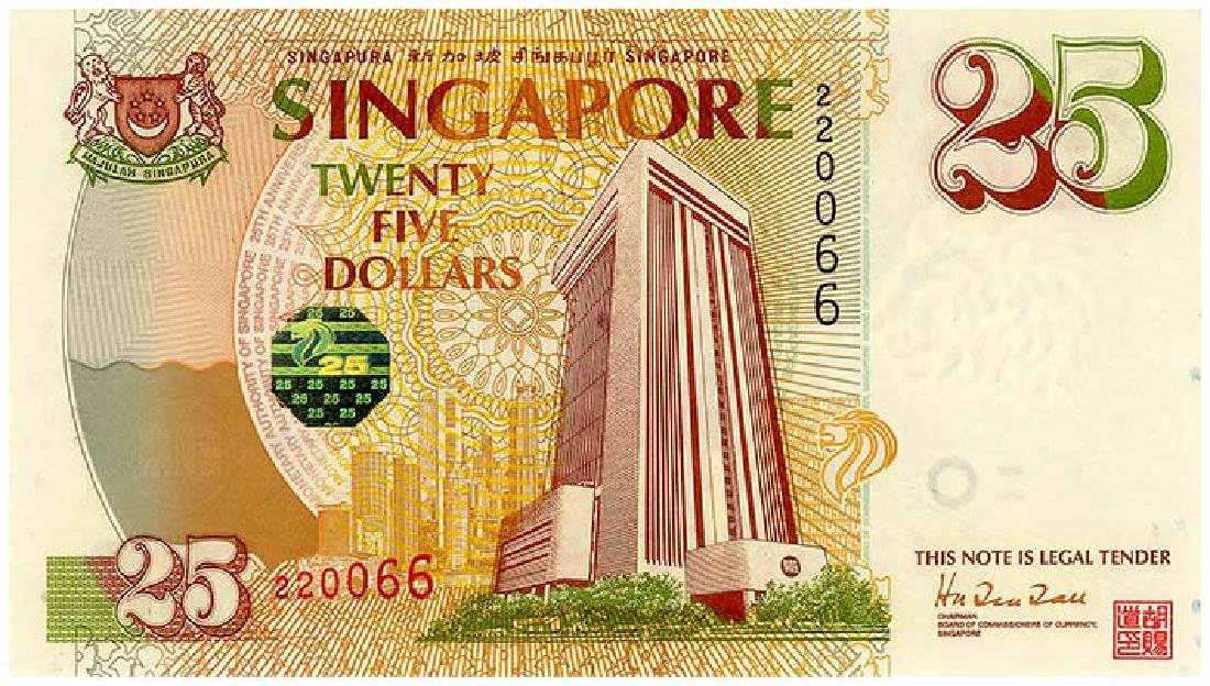 SINGAPORE $25 1996   no. 220066