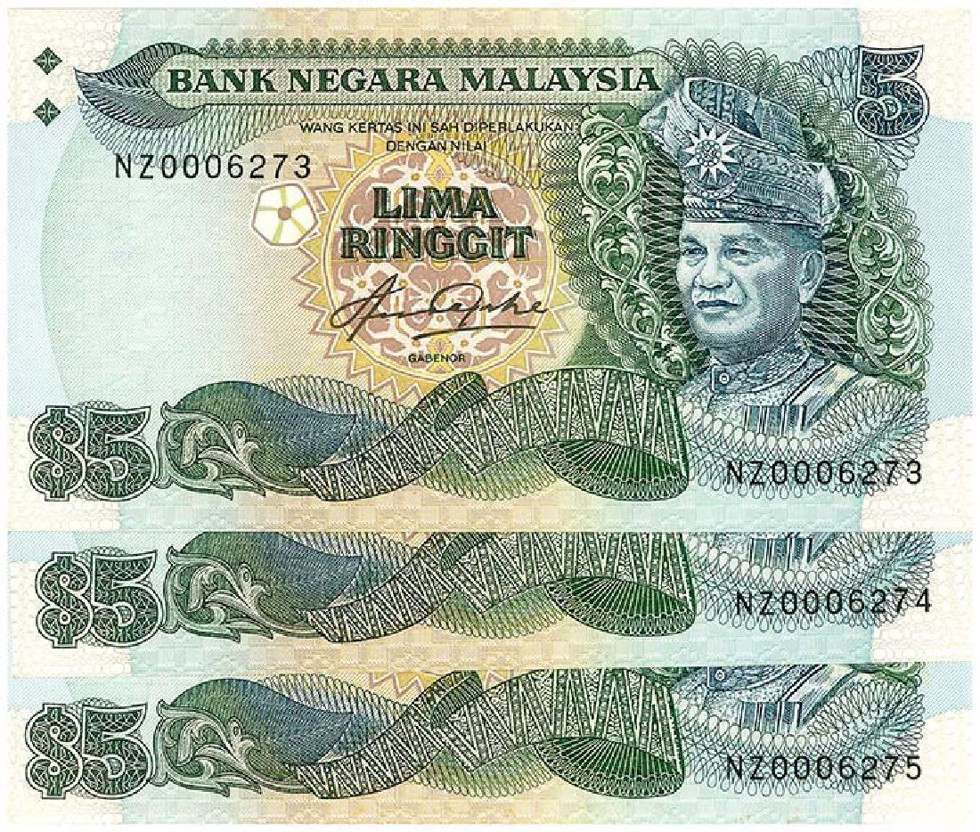 MALAYSIA  RM5 1982-84  no. NZ0006273-75 (3pcs)