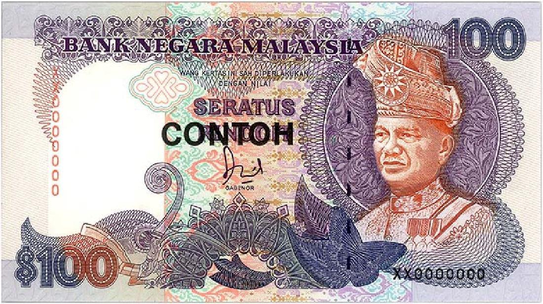 MALAYSIA RM100 1986 Specimen