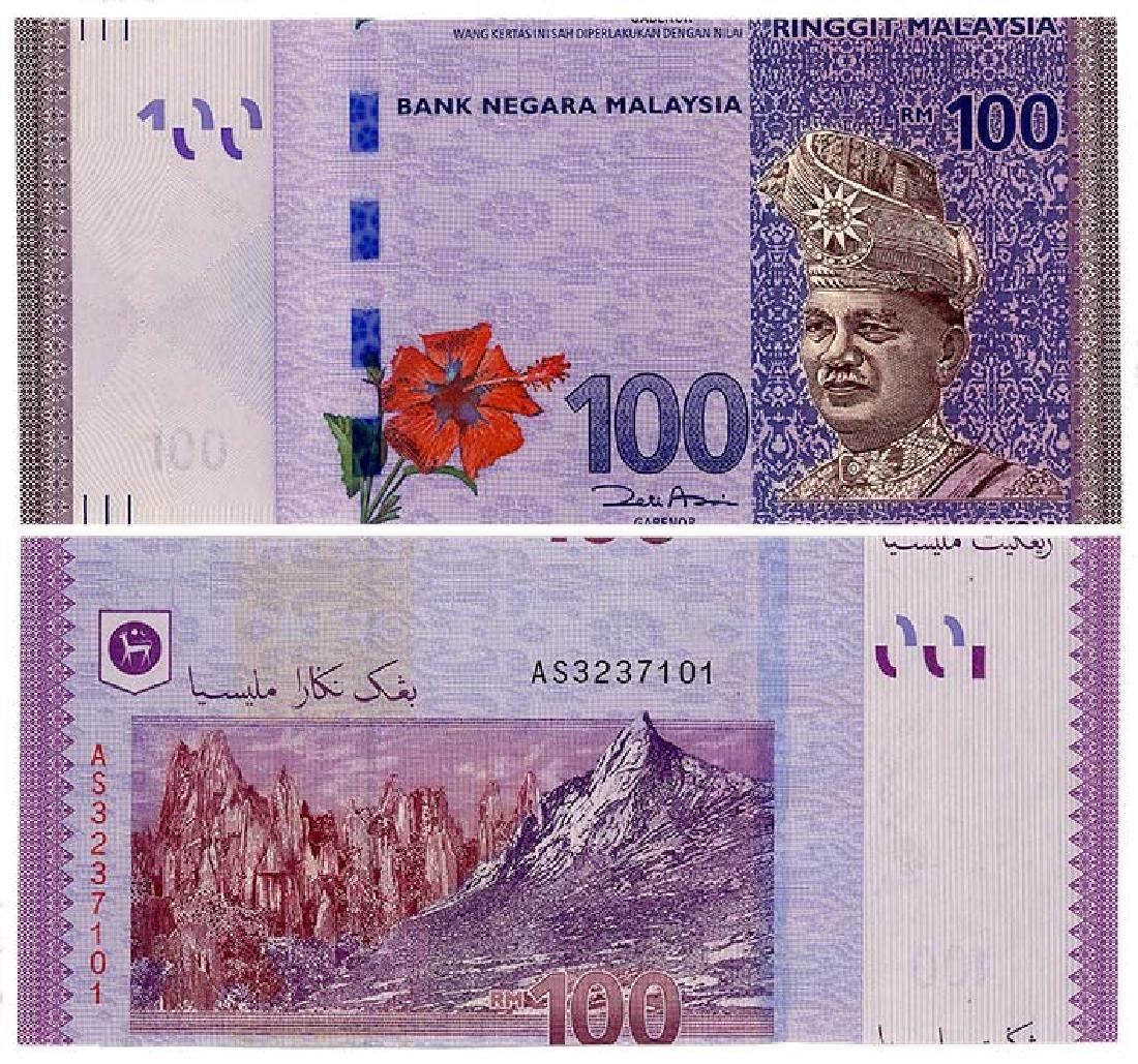 MALAYSIA RM100 2012 s/n AS 3237101