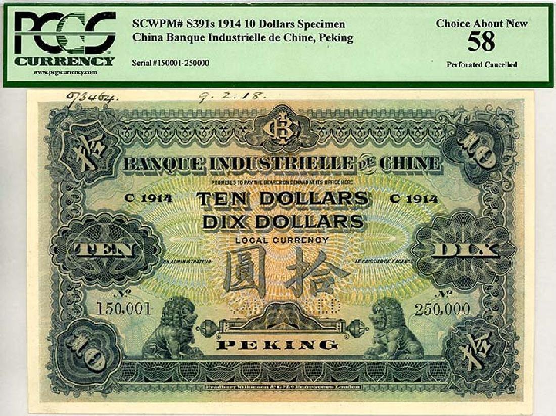CHINA - Foreign Banks   $10 1914 Peking, Specimen