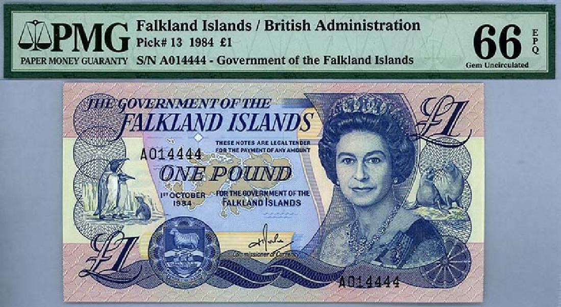 FALKLAND ISLANDS  1-Pound 1984 s/n. A014444