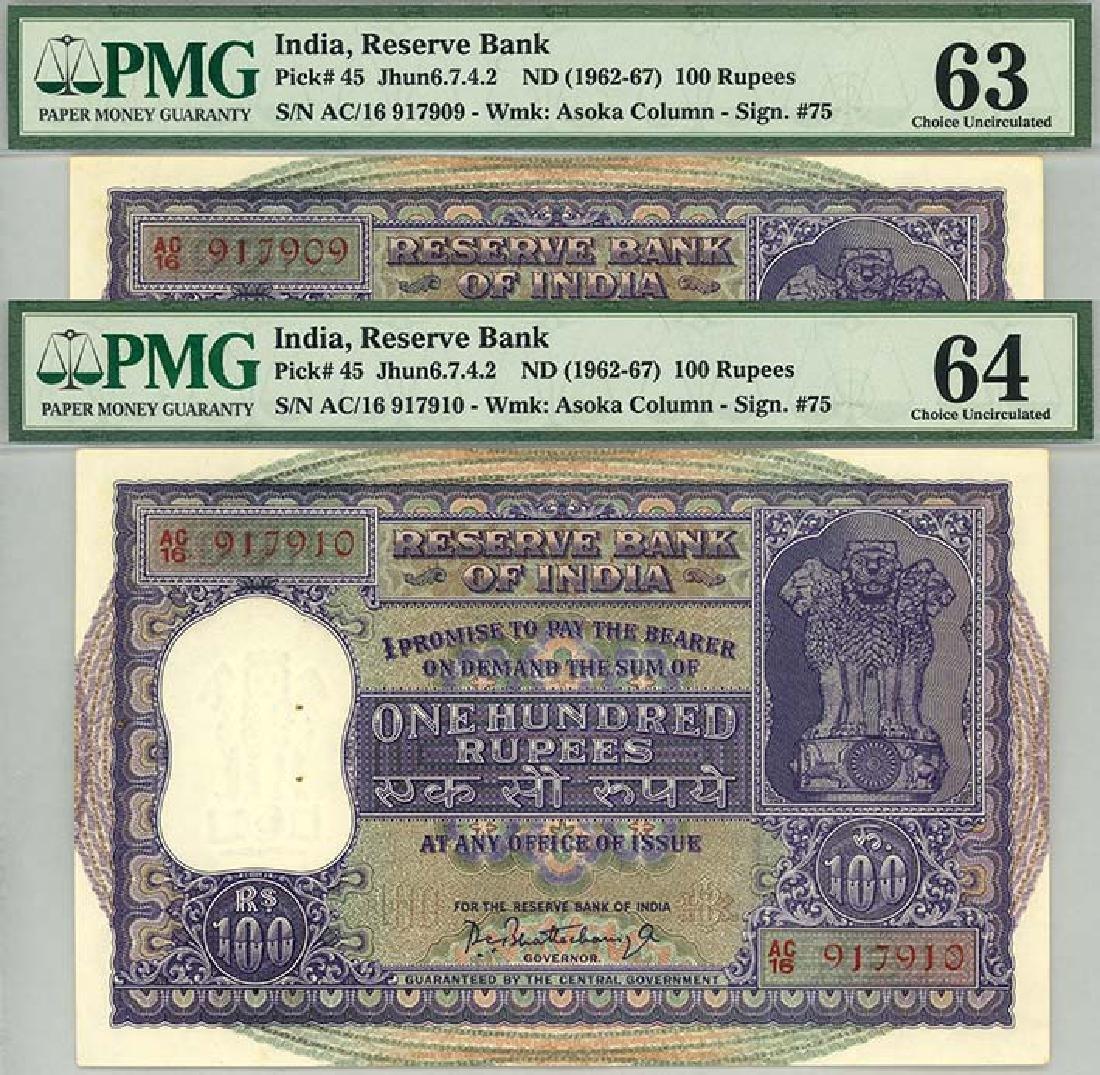 INDIA 1962-67 Consecutive pair no. AC/16 917909-10