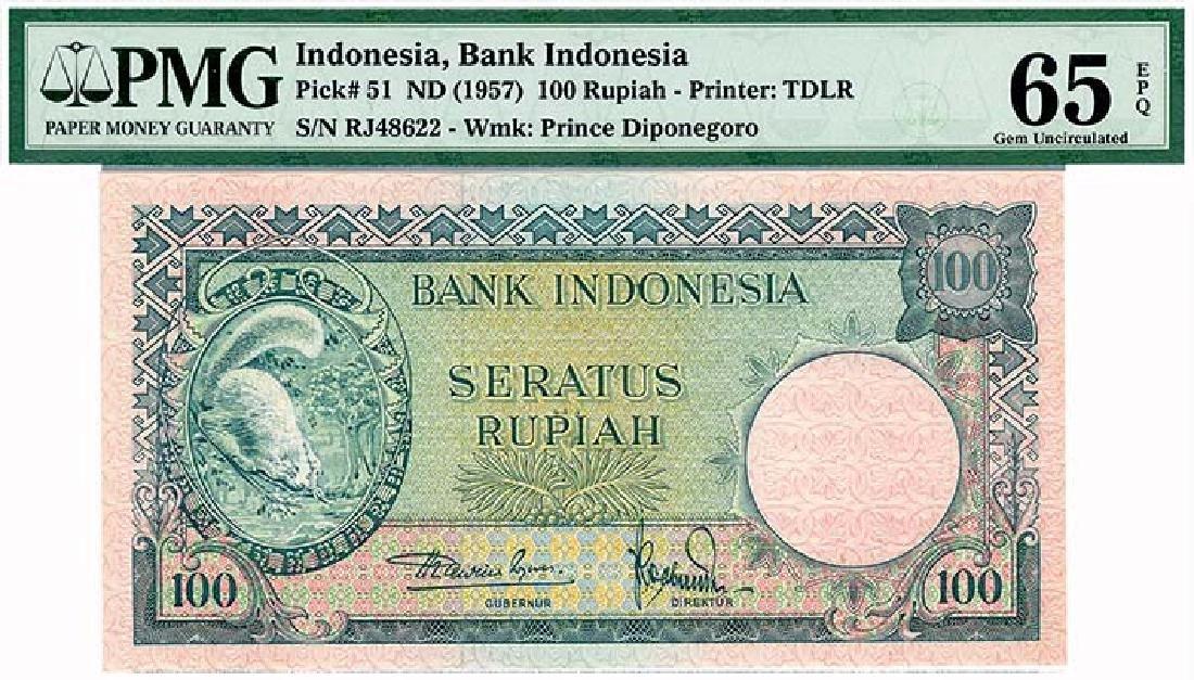 INDONESIA  100-Rupiah 1957   s/n. 100RJ48622