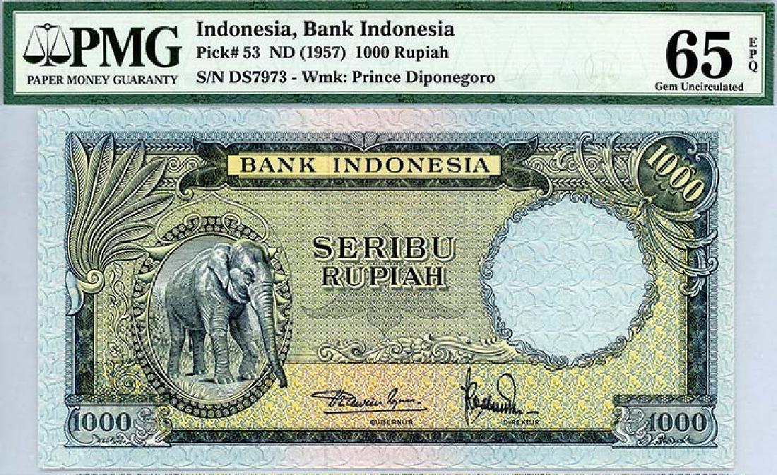 INDONESIA 1,000-Rupiah 1957 s/n. 1000 DS7973