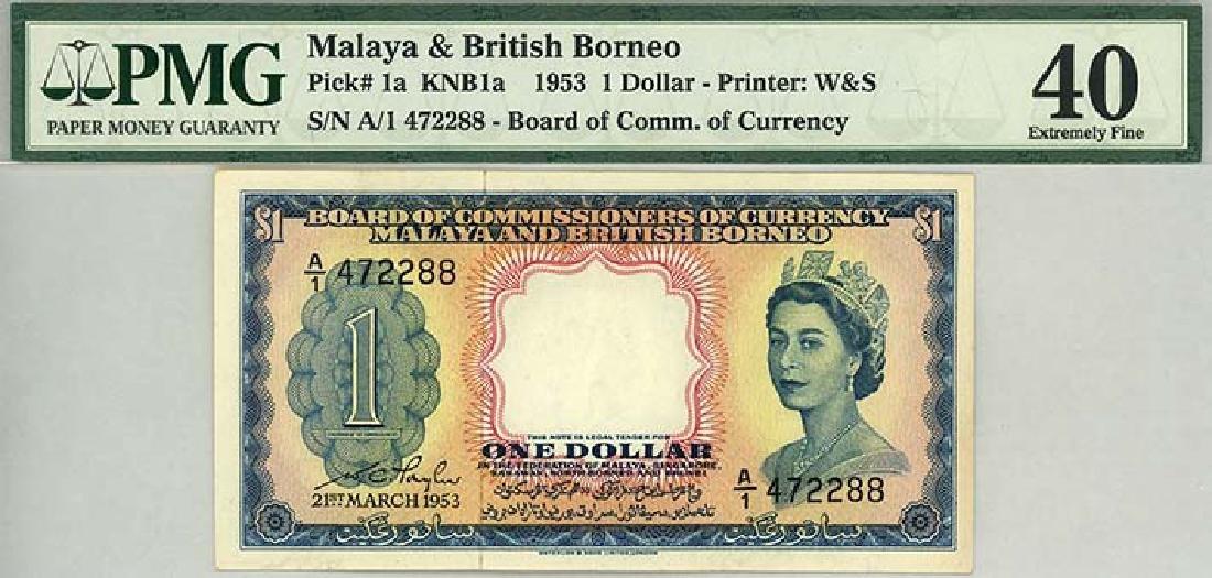 MALAYA & BRITISH BORNEO $1 1953   A/1 472288