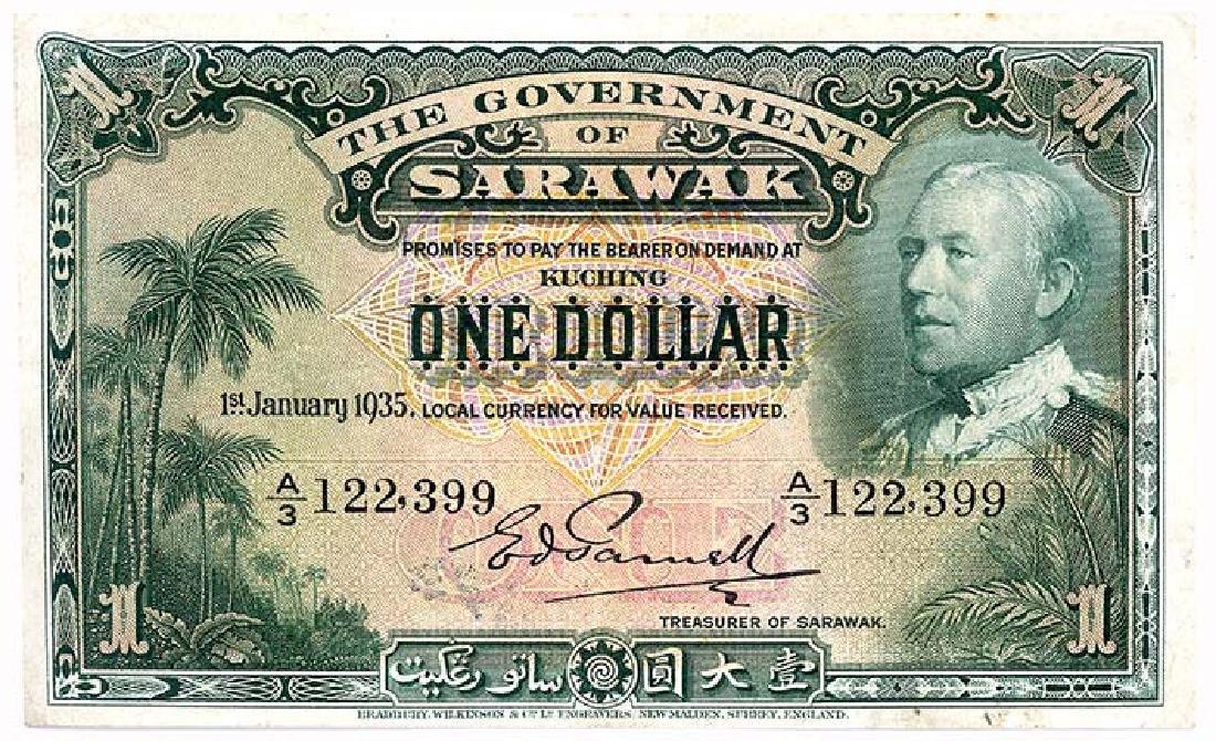 SARAWAK  $1 1935   s/n. A/3 122,399