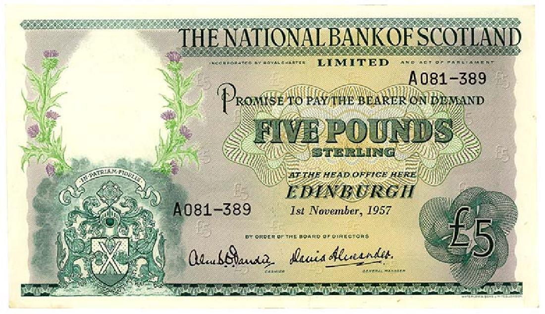 SCOTLAND  5-Pounds 1957