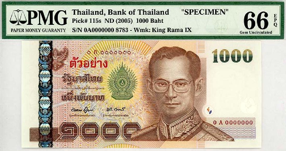 THAILAND 1,000-Baht 2005 Specimen