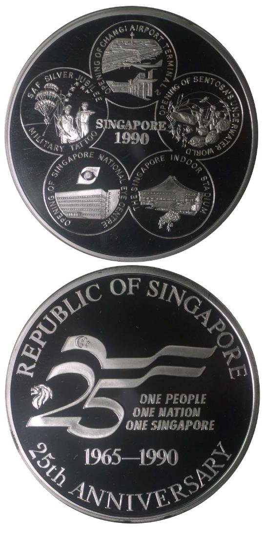 SINGAPORE Silver: Proof 5oz medal