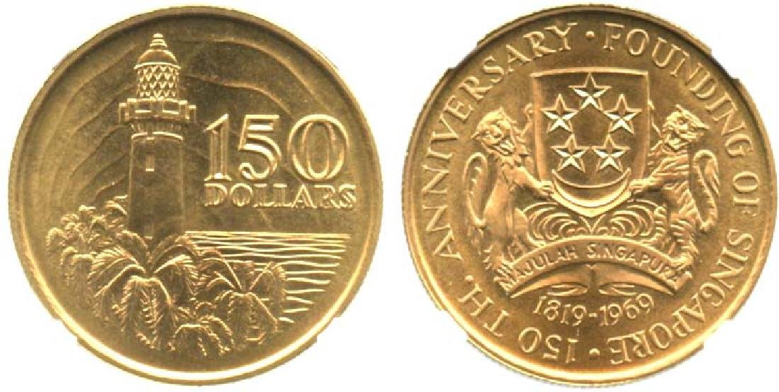 SINGAPORE 1st gold coin of Singapore