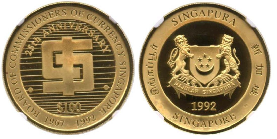 SINGAPORE Gold: Proof $100