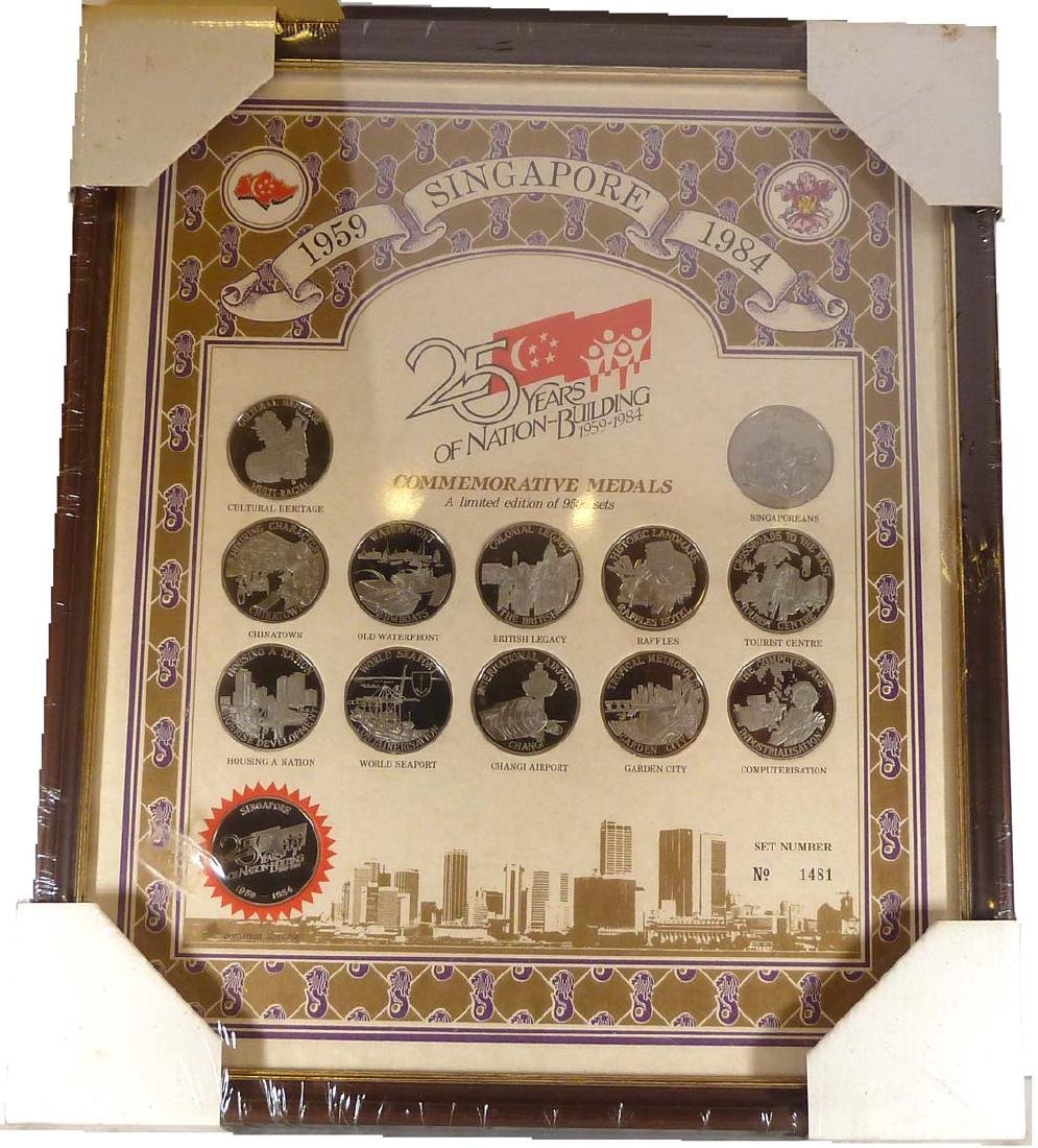 SINGAPORE Cu-Ni: Proof Set 12 medals