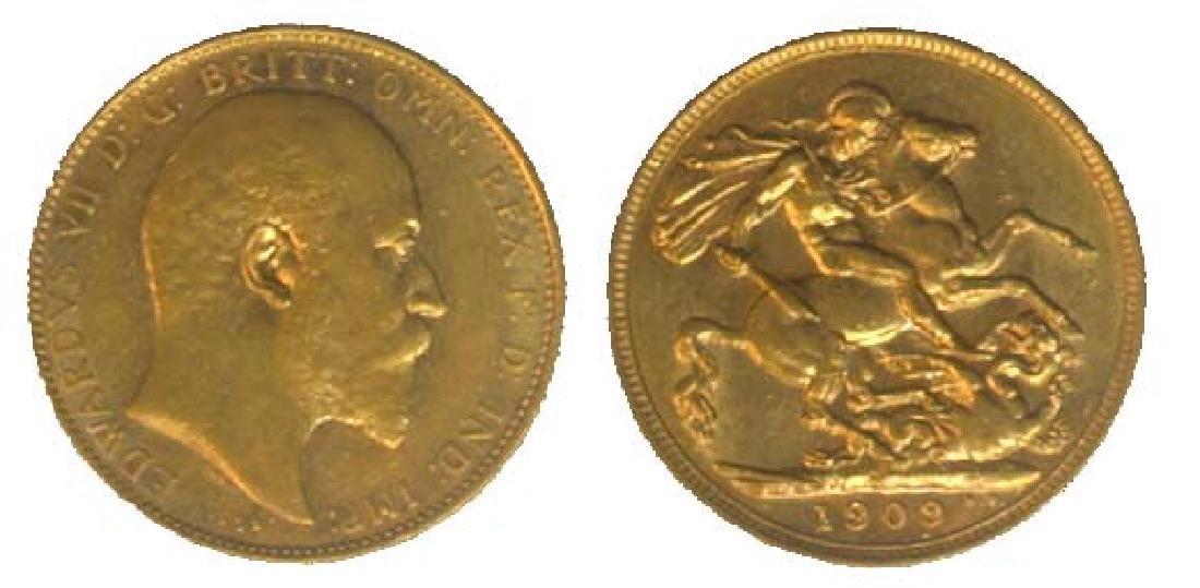 AUSTRALIA Gold: Sovereign 1909