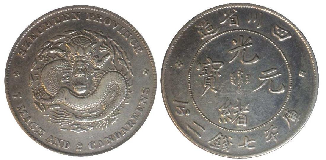 CHINA Szechuan Province: Silver Dragon Dollar