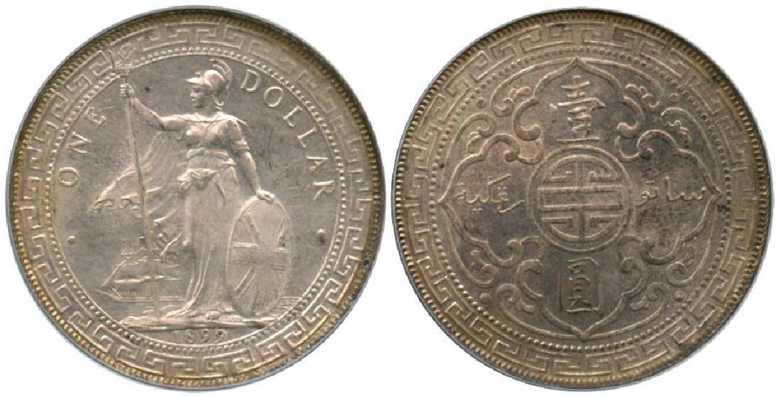 GREAT BRITAIN British Trade Dollar: Silver Dollar 1899B