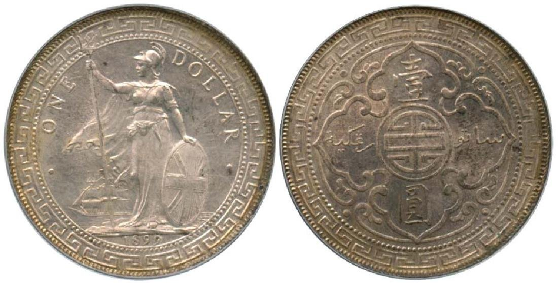GREAT BRITAIN British Trade Dollar: Silver Dollar 1899B