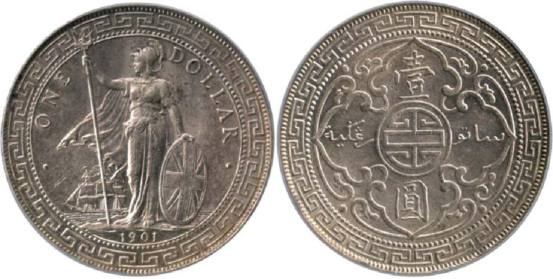 GREAT BRITAIN British Trade Dollar: Silver Dollar 1901B