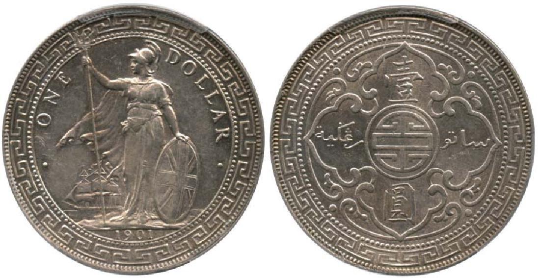 GREAT BRITAIN Trade Dollar: Silver Dollar 1901C