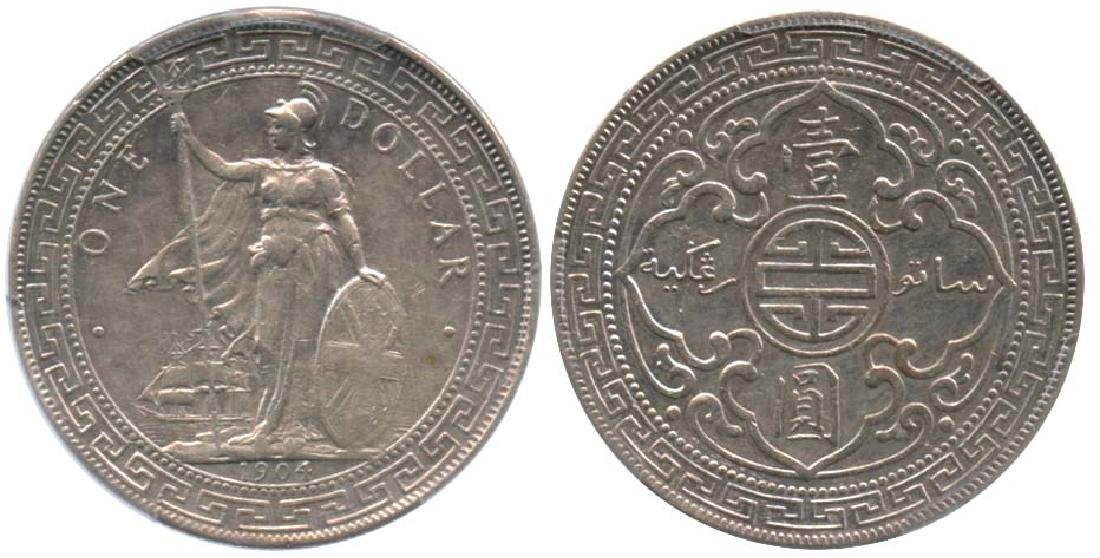 GREAT BRITAIN Silver Trade Dollar 1904/00