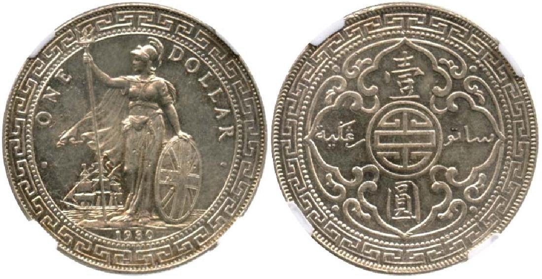 GREAT BRITAIN Silver Trade Dollar 1930B