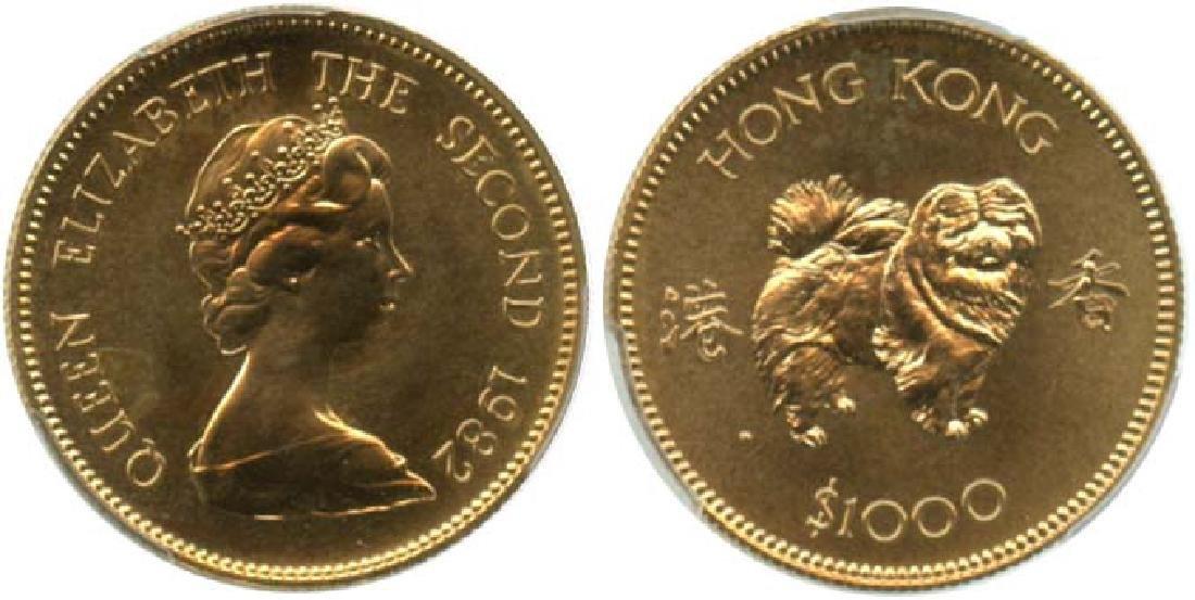 HONG KONG Gold $1000 1982